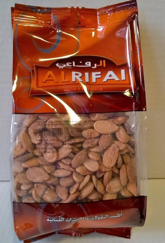 Al Rifai pépins de melon rouge grillés 250 grs
