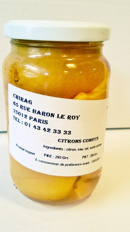 Citrons confits Chirag 420g nt