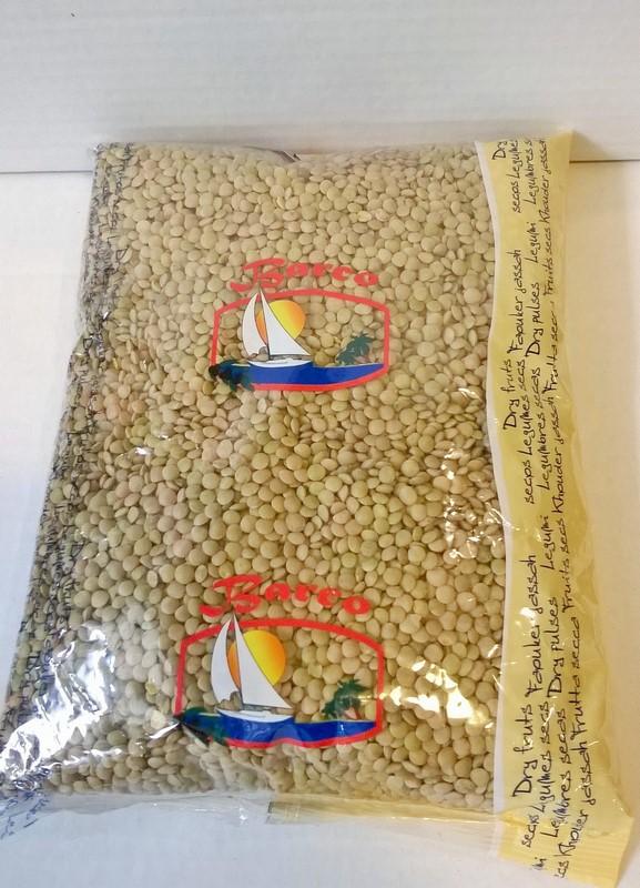 Lentilles blanches sèches 1 kg
