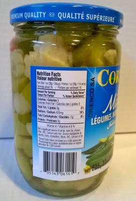 Légumes marinés mixtes cortas 500 ml