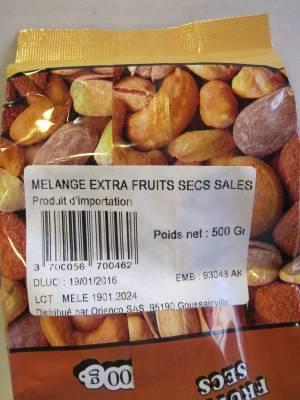 Mélange de Fruits secs grillés et salés