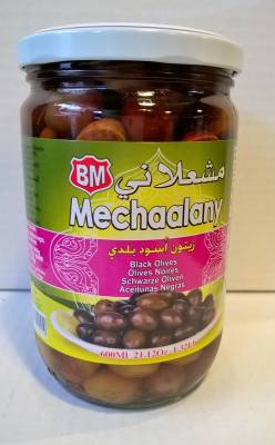 Olives noires Mechaalany 600 ml