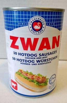 saucisses hot-dog zwan x10 400g